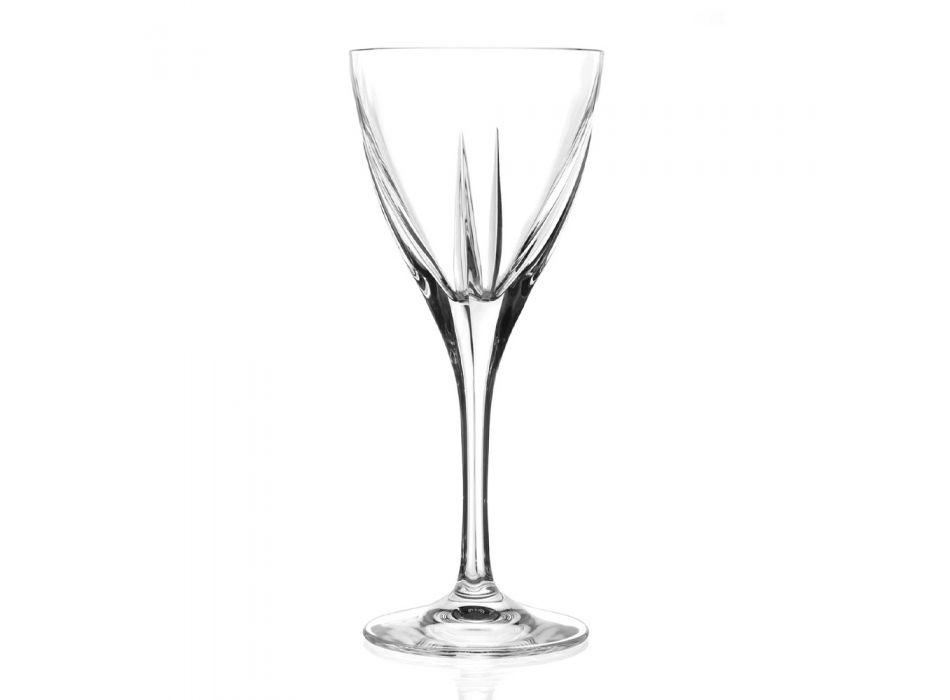 Assorted Transparent Ecological Crystal Goblet Set 18 Pcs - Amalgam