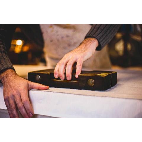 Italian Artisan Breakfast Service Hand Print on Ancient Fabrics - Brands