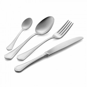 Complete Set of Luxury Design Stainless Steel Cutlery 24 Pieces - Boss