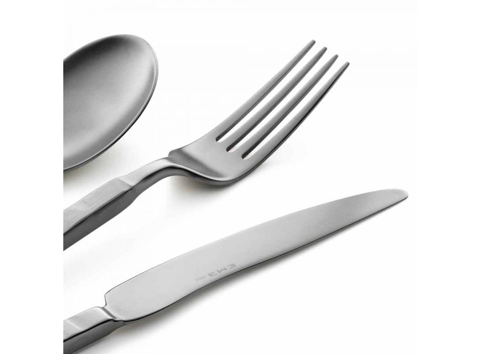 Complete Steel Cutlery Set 24 Pieces Design Made in Italy - Tricky