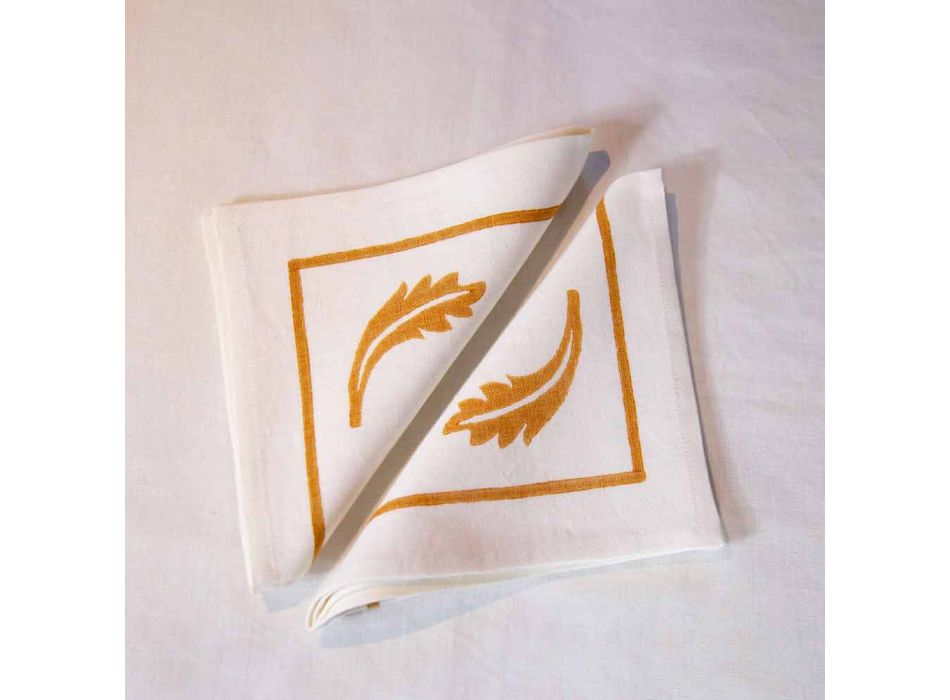 Linen Breakfast Service with Hand Crafted Single Piece - Brands
