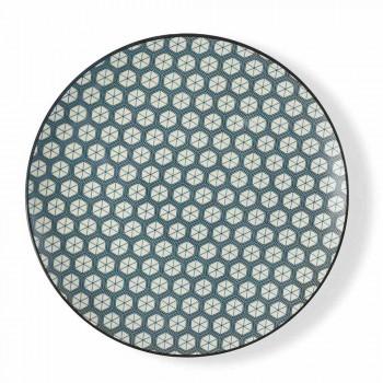 Complete Modern Table Service Gres Plates Design 18 Pieces - Deepy