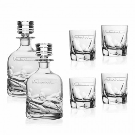 Ecological Crystal Whiskey Service with Personalized Logo, Luxury Line - Titanio