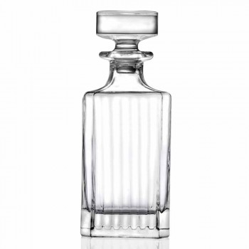 Classic Design Crystal Decorated Whiskey Set 7 Pieces - Senzatempo