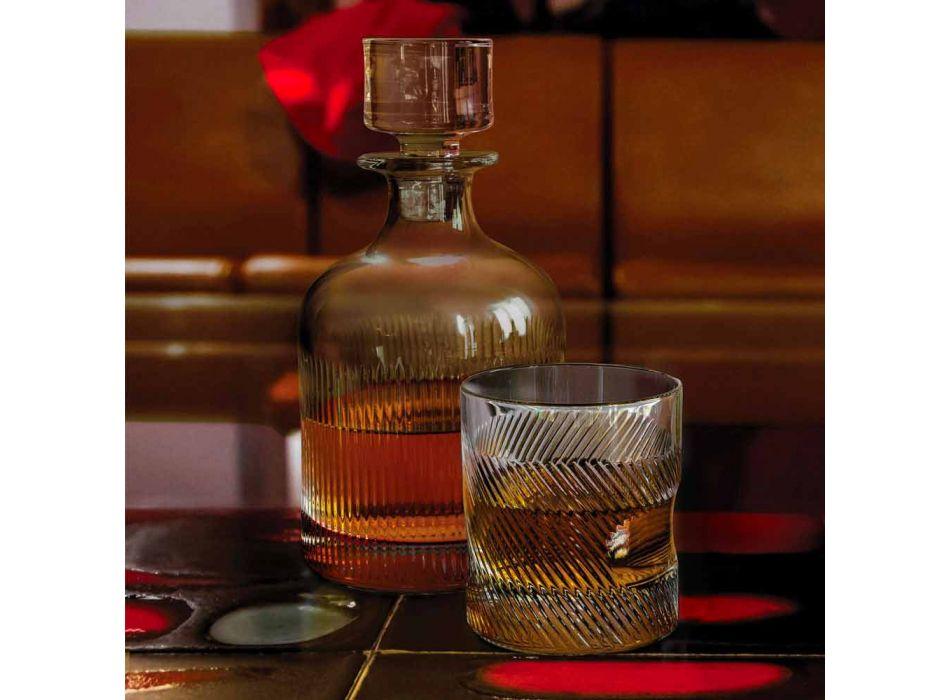 6-Piece Luxury Design Ecological Crystal Whiskey Set - Tactile