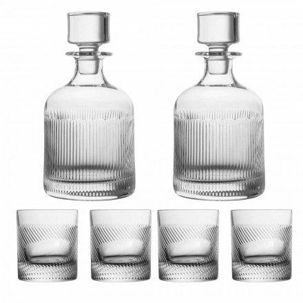 6-Piece Luxury Design Ecological Crystal Whiskey Set, Luxury Line - Tattile