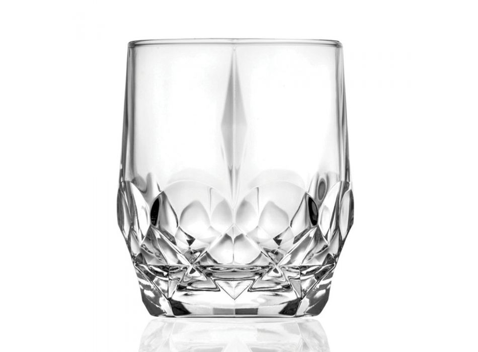 12 Pieces Ecological Crystal Whiskey Glasses Service - Bromeo