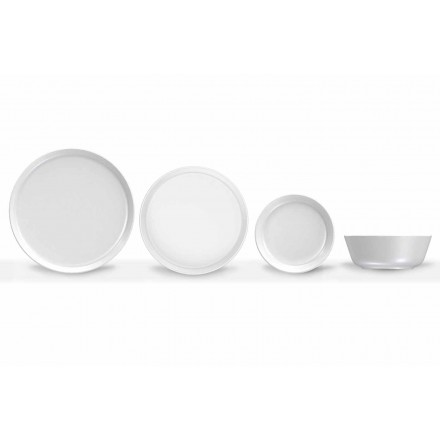 White Modern Design Porcelain Dinner Set 24 Pieces - Arctic