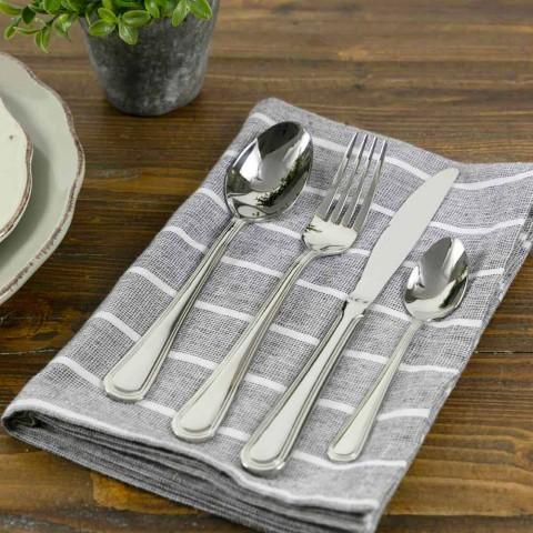24-Piece Cutlery Set in Classic / Modern Design Steel - Eyelet