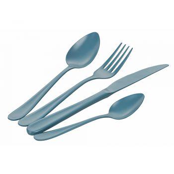 16 Piece Blue Shades Stainless Steel Cutlery Set - Oceanus