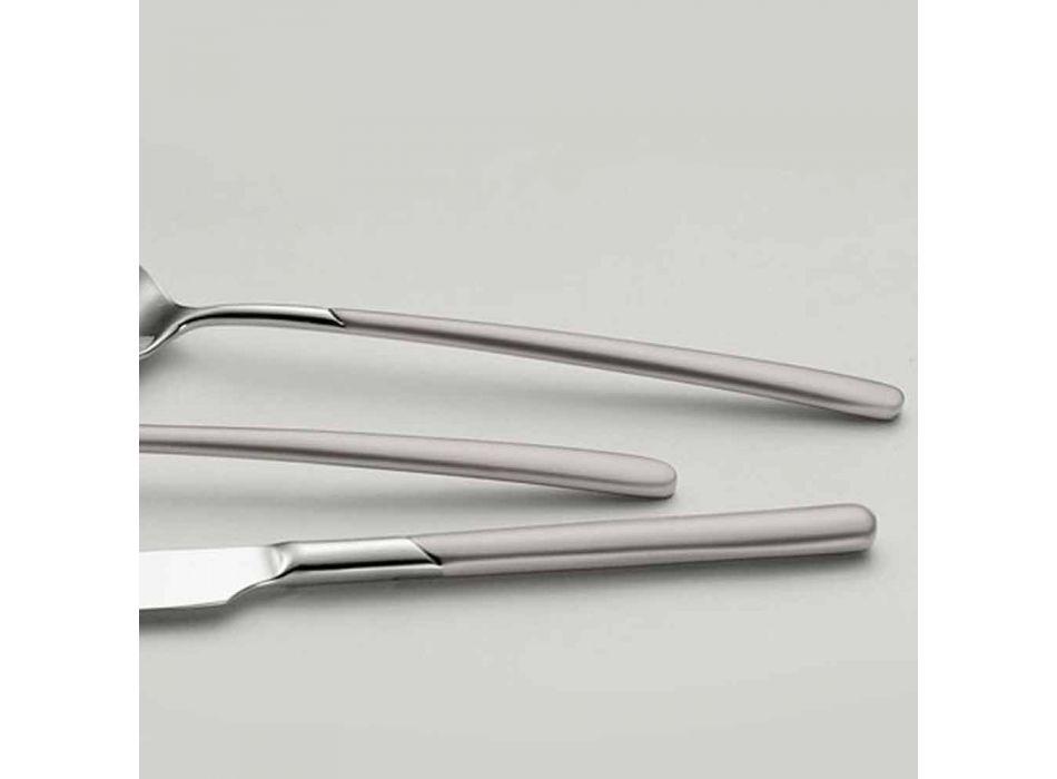 24 Pieces Polished Steel Cutlery Set with Sandblasted Handle - Jingle