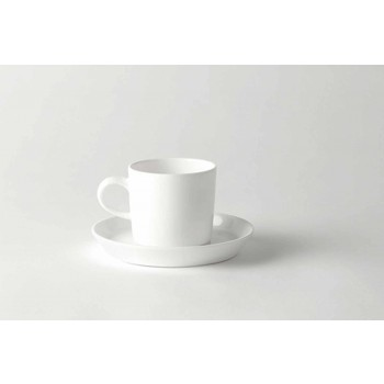 Coffee, Tea and Breakfast 30 Pieces White Porcelain Cup Service - Egle