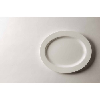 4-Piece Serving Plates Set in White Designer Porcelain - Samantha