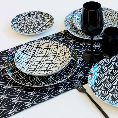 Complete Dinnerware Set in Colored and Modern Porcelain 18 Pieces - Stilotto