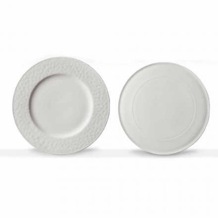 Gourmet Design Serving Dishes in White Porcelain 2 Pieces - Flavia
