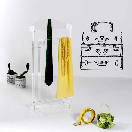 Modern design coat rack made of transparent plexiglass Mose