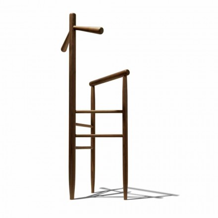 Modern valet stand in solid walnut or solid ash Made in Italy - Kora