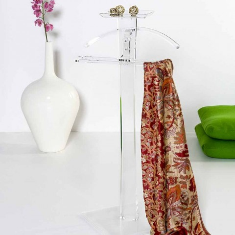 Modern transparent transparent plexiglass servo Benny made in Italy