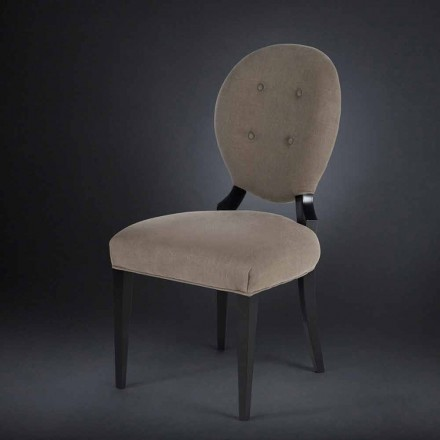 Set of two upholstered chairs Sophia, with buttoned backrest