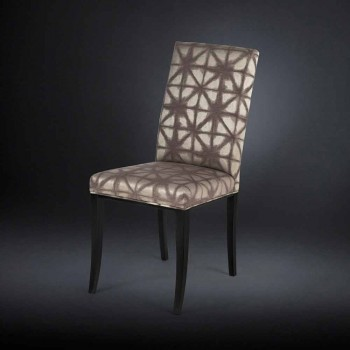 September 2 upholstered modern chairs with wooden legs in black Audrey