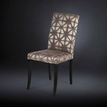 Set of two upholstered chairs Audrey, with black legs