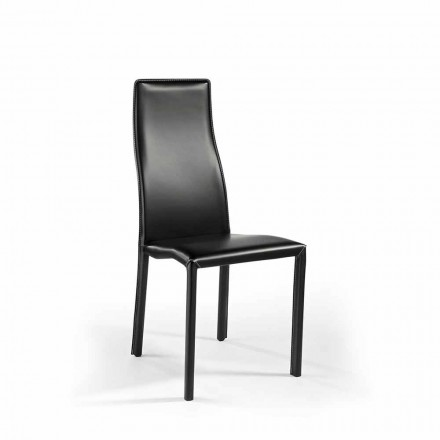Super Light Aluminum Chair Upholstered in Leather or Leather - Cruise