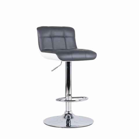 September 2 upholstered design stools, adjustable in height Ida