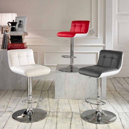 Set of 2 upholstered stools Ida, modern design