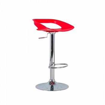 September 2 stools in chrome metal and pvc Aldo, modern design