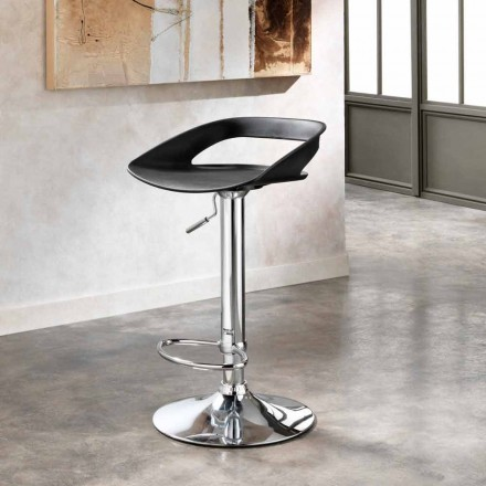 Set of 2 metal and pvc stools Aldo, modern design