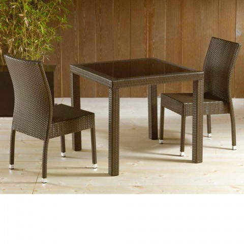 Set of 4 Sorrento stackable garden chairs