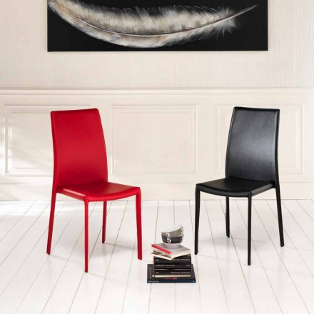 Set of 4 modern eco-leather chairs Gioia