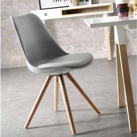 Modern kitchen chair made of wood felix for Sedie legno moderne