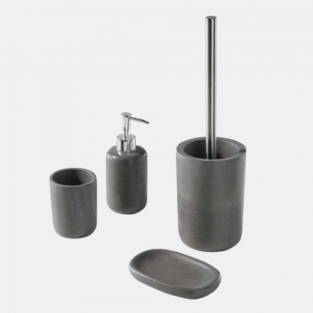 Gray Resin Free Standing Bathroom Accessories Set - Pailette