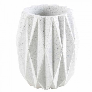 Modern bathroom accessories set in white resin Levice