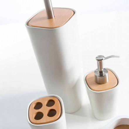 Modern bathroom accessories set made with ceramic Carsoli