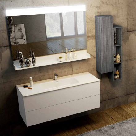 Moden suspended bathroom composition made in Italy, Bari