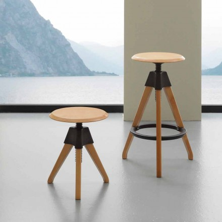 Modern design screw stool Sit, with polypropylene details