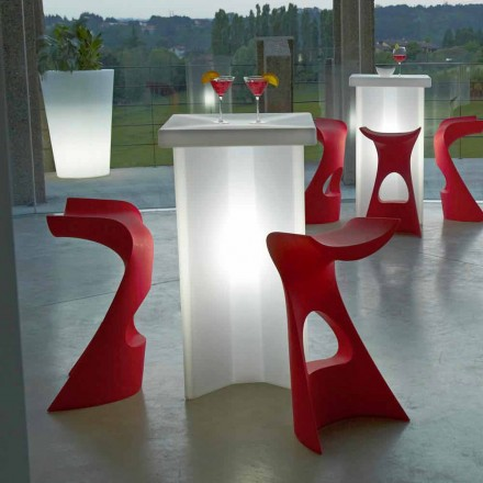 High colored outdoor / indoor stool Slide Koncord, made in Italy