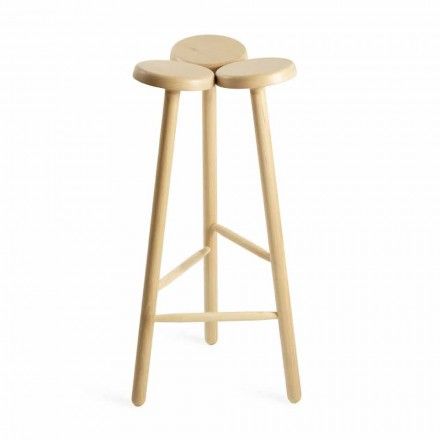 High Bar Stool or Kitchen Counter in Ash Made in Italy - Lottie