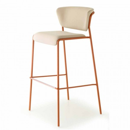High Stackable Outdoor Stool in Fabric Made in Italy - Scab Design Lisa