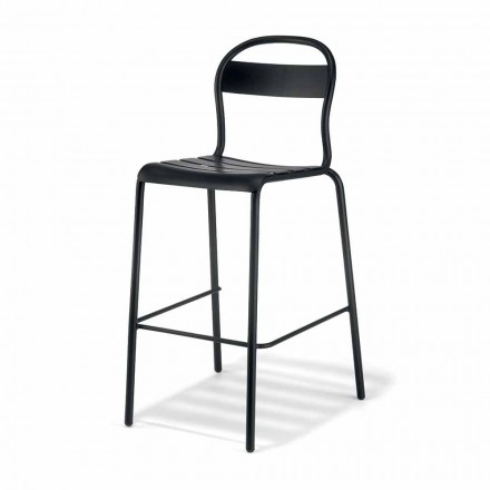 High Stackable Outdoor Stool Made in Italy, 2 Pieces - Trixie