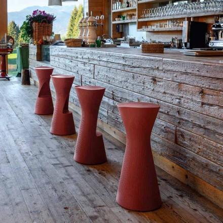 High Garden Stool in Colored Polyethylene Made in Italy - Desmond