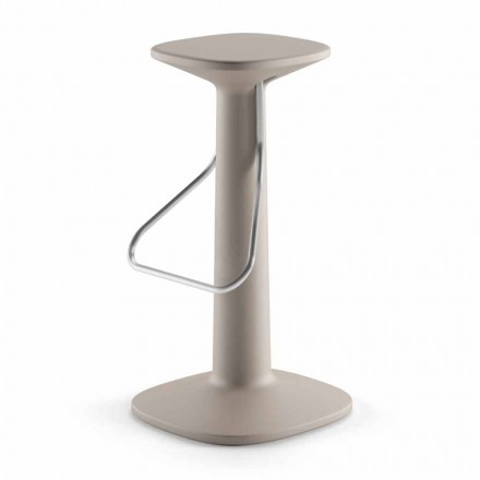 High Design Stool in Polyethylene and Stainless Steel Made in Italy - Pito