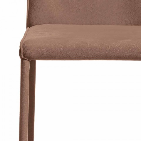 Modern design bar stool Amos, handcrafted in Italy