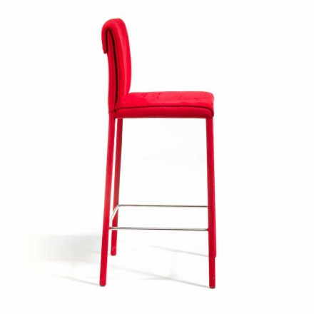 Bar stool on modern design Amos, handcrafted entirely in Italy