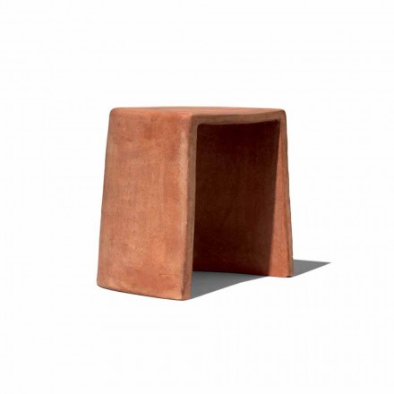 Low Stool for Outdoor Handcrafted Terracotta Made in Italy - Julio