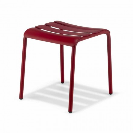 Low Stool in Outdoor Painted Aluminum Made in Italy - Sondra
