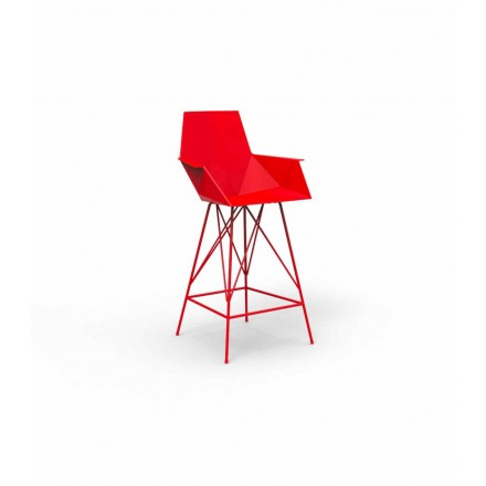 Modern stool with armrests Faz by Vondom, in polypropylene, 4 pieces