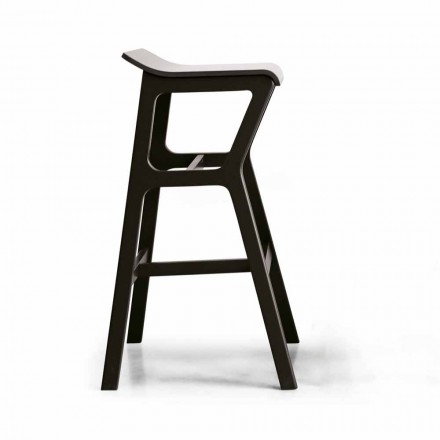 Stool with Structure in Solid Beech Wood Made in Italy - Regensburg